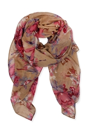 Riah Fashion Floral Print Scarf - Front cropped