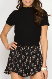 She + Sky Floral Print Shorts - Product Mini Image
