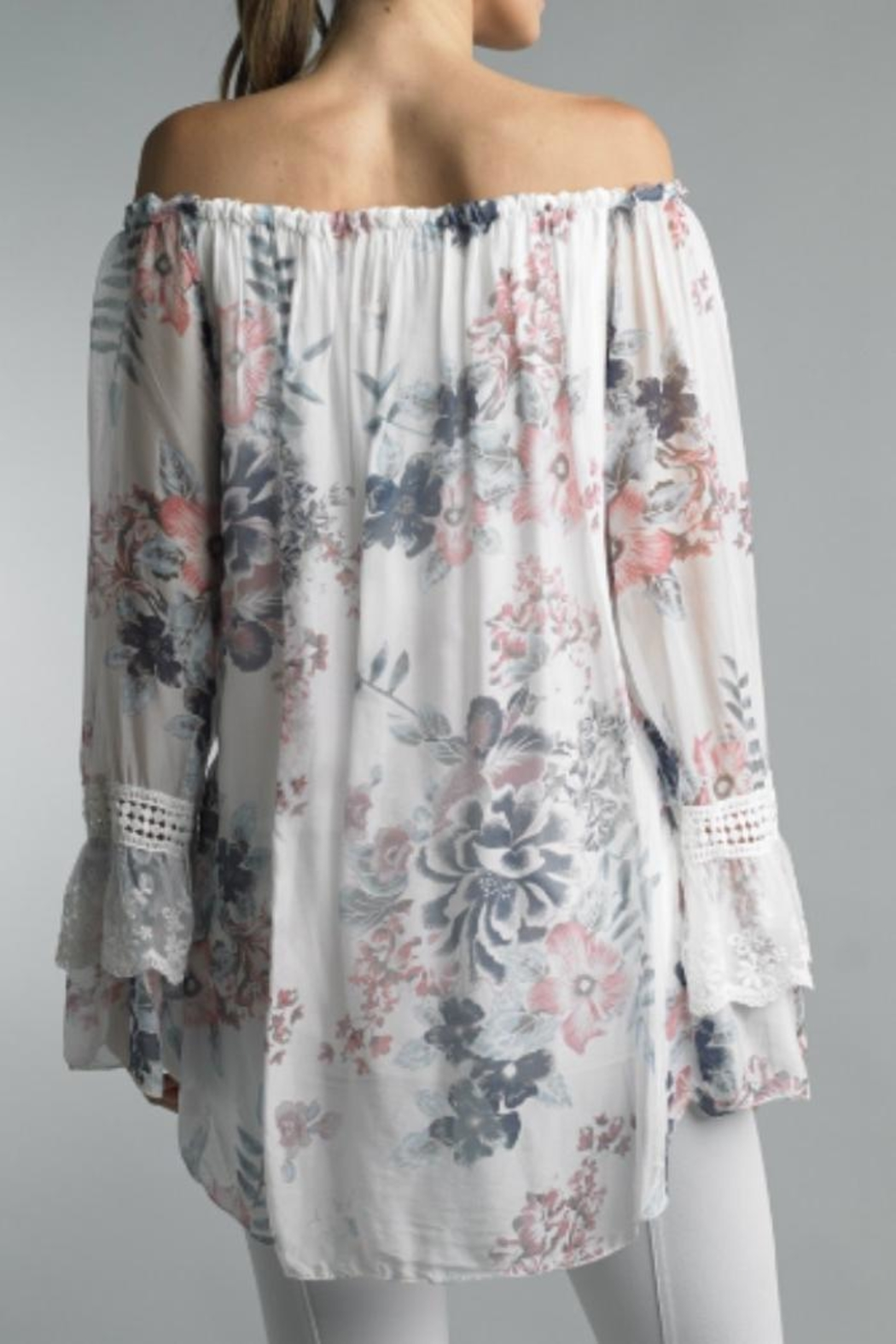 Bolufe Floral-Print Silk Blouse - Front Full Image