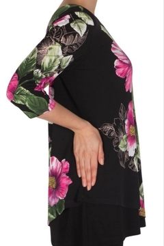 Joseph Ribkoff  Floral Print Sleeve Detail Blouse - Alternate List Image