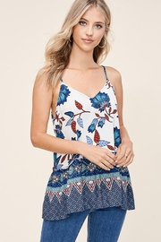 Staccato Floral Print Sleeveless Top - Product Mini Image