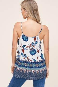 Staccato Floral Print Sleeveless Top - Alternate List Image