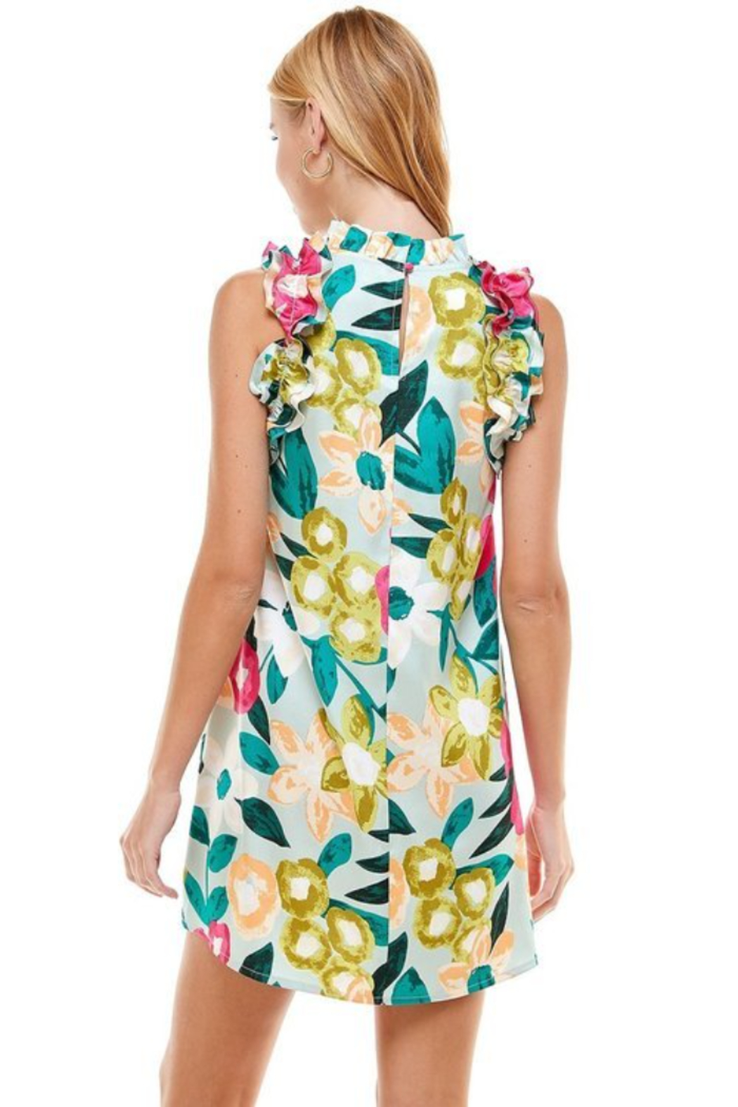 TCEC Floral Print Swing Dress - Side Cropped Image
