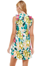 TCEC Floral Print Swing Dress - Side cropped