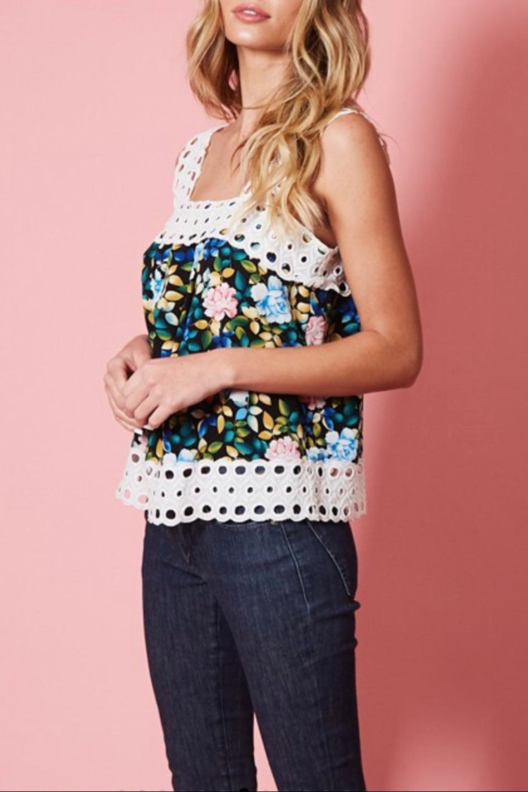 Available Floral Print Tank - Front Full Image