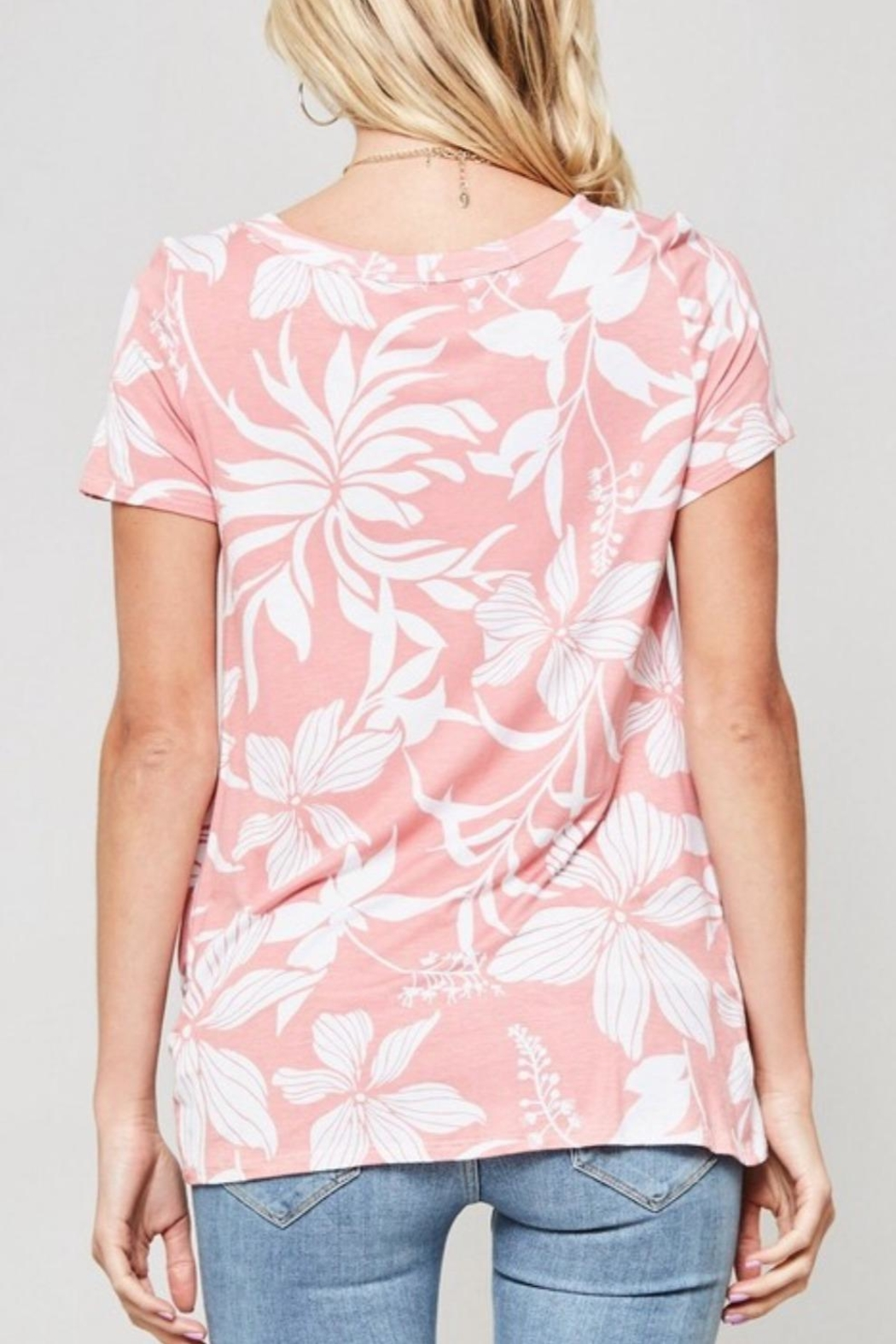 Promesa USA Floral Print Tee - Side Cropped Image