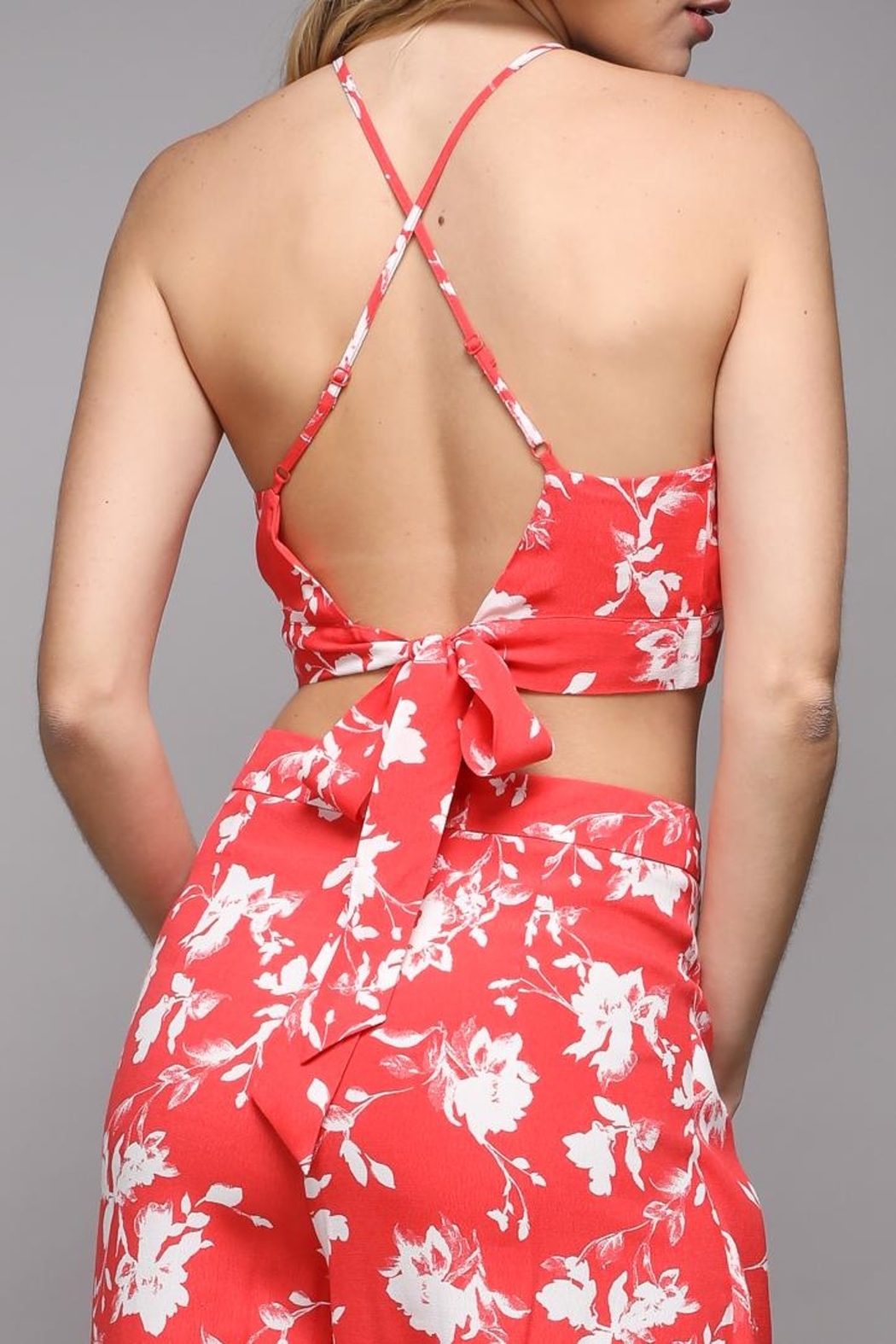 Do & Be Floral Print Top - Side Cropped Image