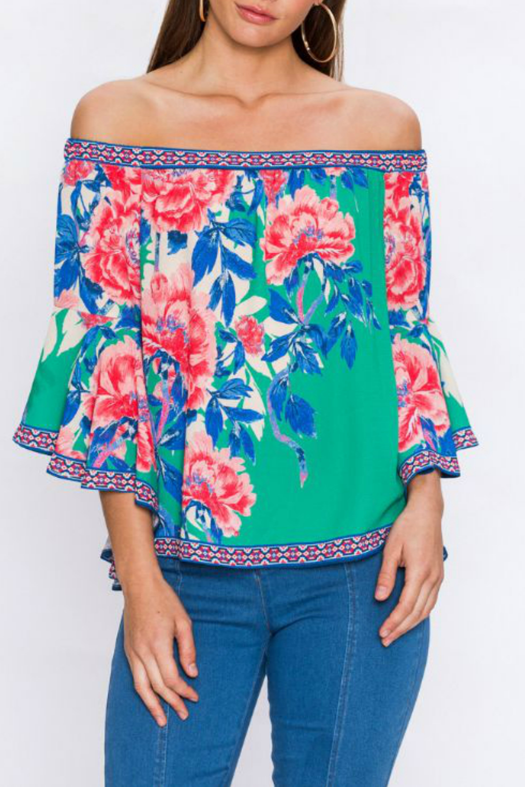 Flying Tomato Floral print top - Main Image