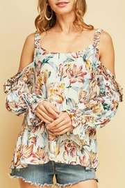 Entro Floral Print Top - Product Mini Image