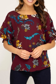 She + Sky Floral Print Top - Product List Image