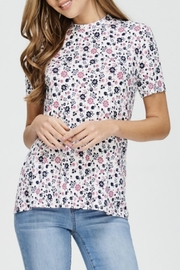 Comme Toi Floral Print Top - Product Mini Image