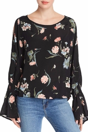 Red Haute Floral Print Top - Product Mini Image