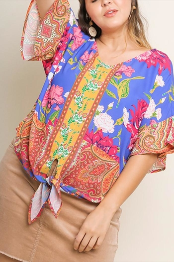 f2ff1a52b33b78 Umgee USA Floral Print Top from Mississippi by Angie s Boutique — Shoptiques