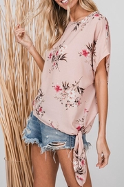CY Fashion Floral Print Top - Front full body