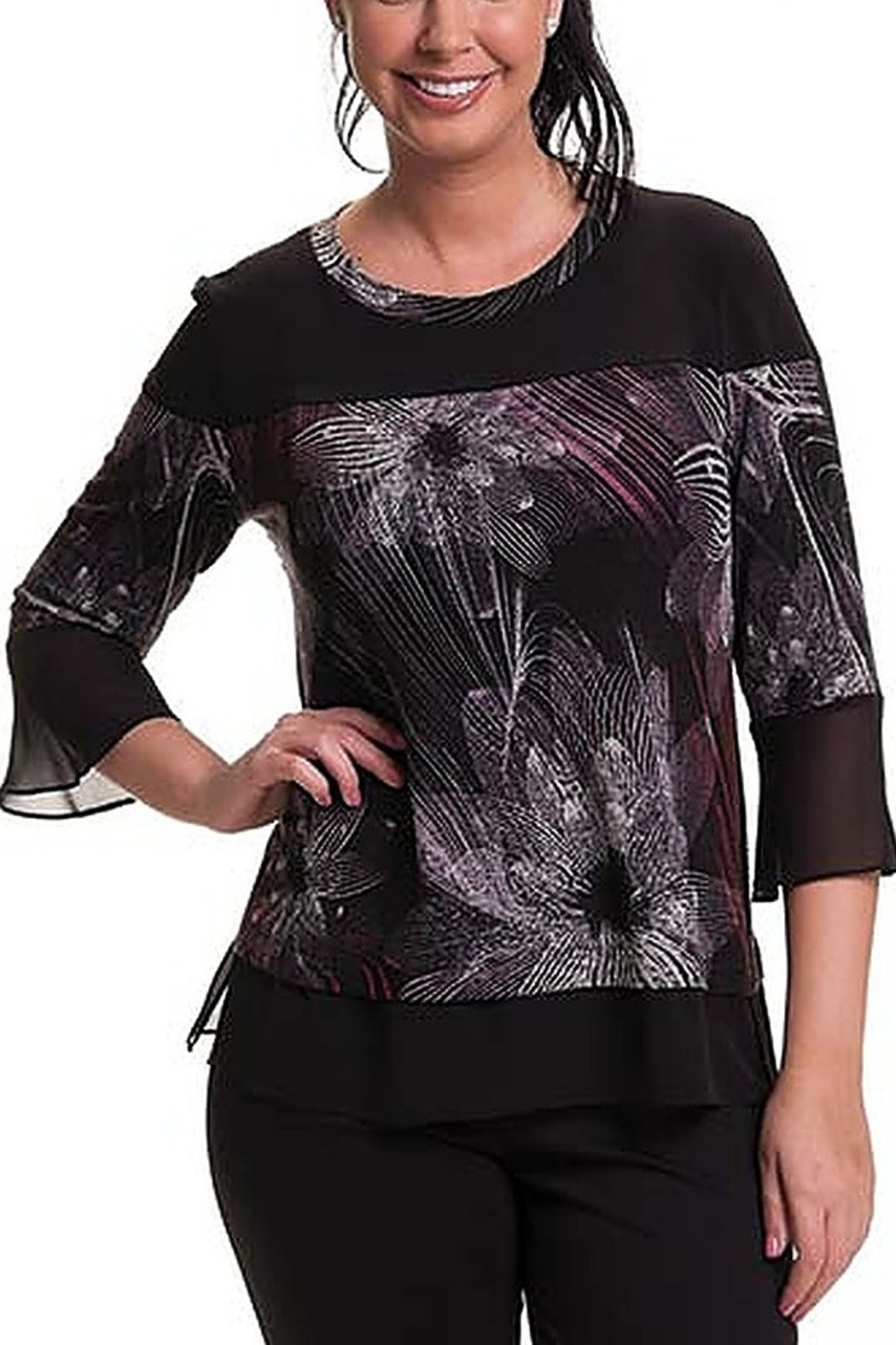 Bali Corp. Floral Print Top - Front Cropped Image