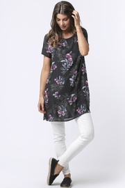 Sinuous Floral Print Tunic - Product Mini Image