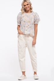 blu Pepper  Floral Print Woven Top - Product Mini Image