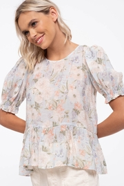 blu Pepper  Floral Print Woven Top - Back cropped