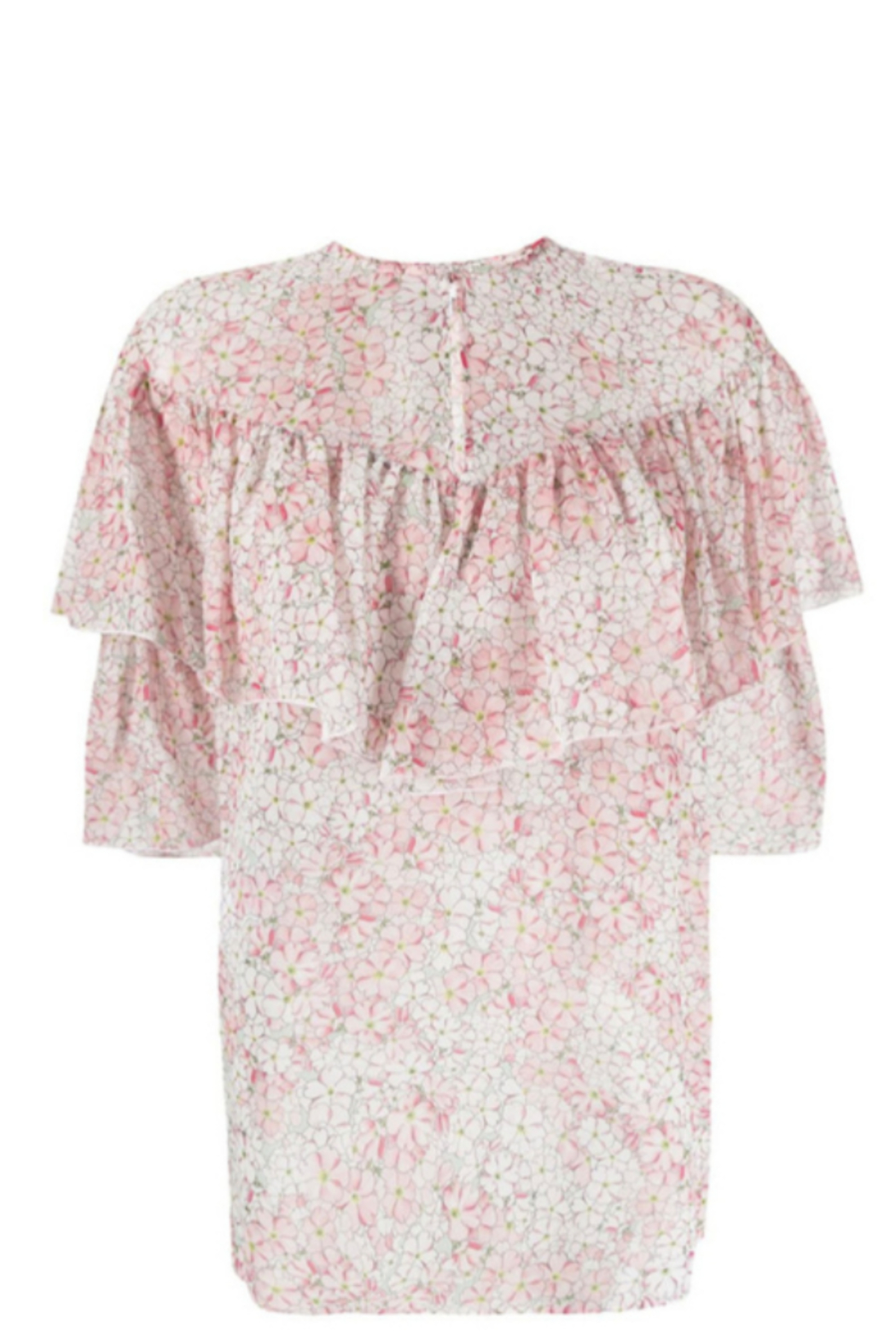 Giambattista Valli FLORAL PRINTED BLOUSE - Back Cropped Image