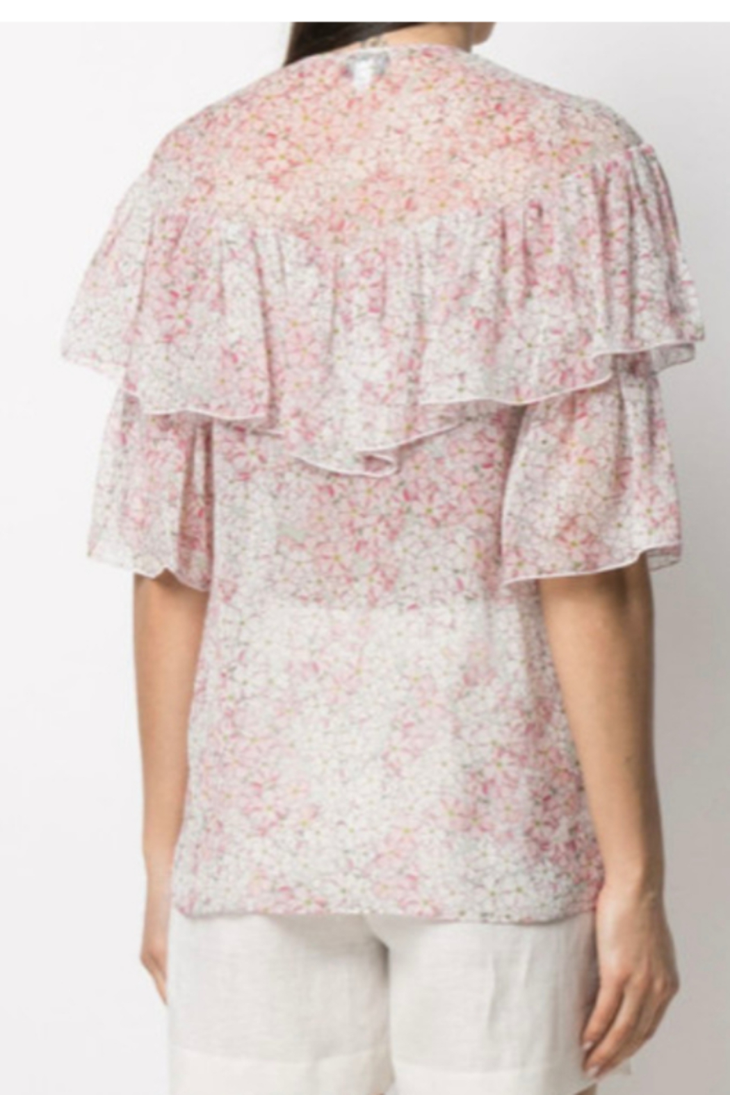 Giambattista Valli FLORAL PRINTED BLOUSE - Front Full Image
