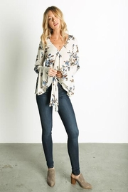 Grade and Gather Floral Printed Blouse - Other
