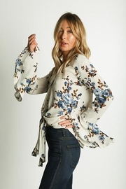Grade and Gather Floral Printed Blouse - Side cropped