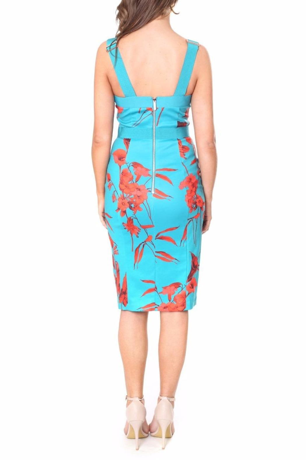Ted Baker Floral Printed Bodycon - Front Full Image
