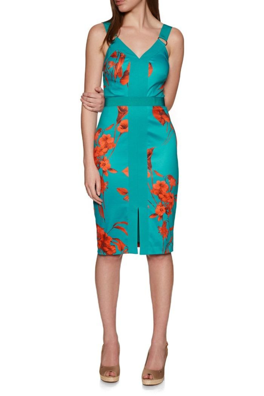 Ted Baker Floral Printed Bodycon - Main Image