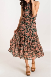 Lush  Floral Printed High Neck Tiered Midi Dress - Product Mini Image