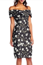 Adrianna Papell Floral Printed Metallic Dress - Product Mini Image