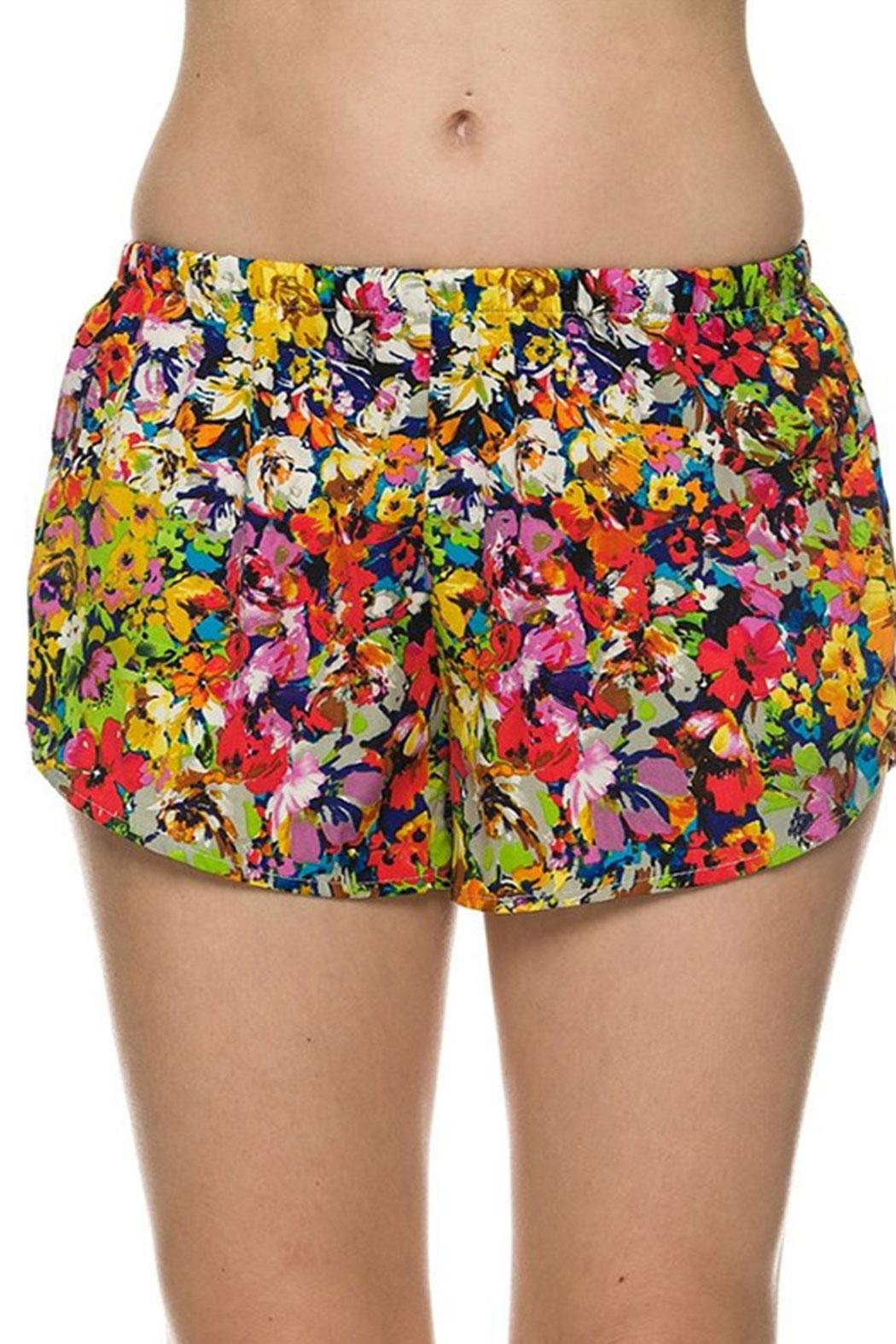 2NE1 Apparel Floral Printed Shorts - Front Cropped Image