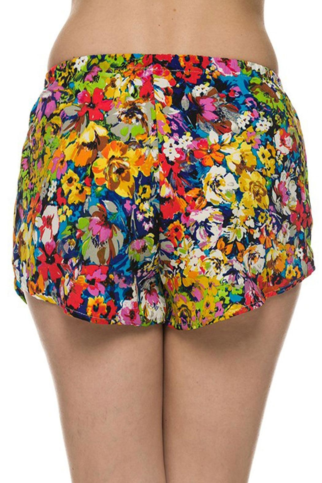 2NE1 Apparel Floral Printed Shorts - Front Full Image