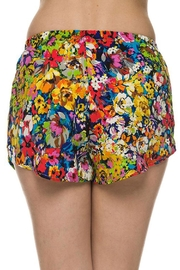 2NE1 Apparel Floral Printed Shorts - Front full body