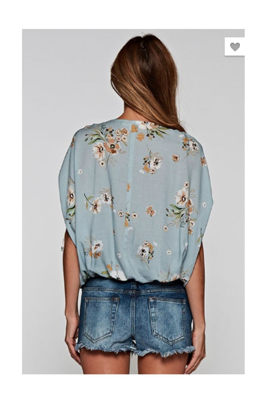 Love Stitch Floral Printed Top - Front Full Image