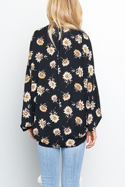 Grade and Gather Floral Printed Woven-Jacket - Front full body