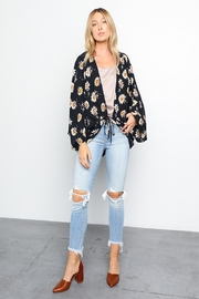 Grade and Gather Floral Printed Woven-Jacket - Other
