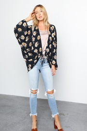 Grade and Gather Floral Printed Woven-Jacket - Side cropped