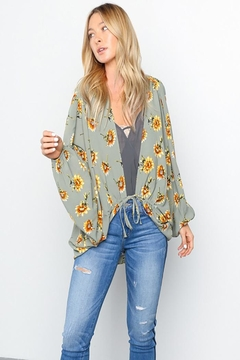 Grade and Gather Floral Printed Woven-Jacket - Alternate List Image