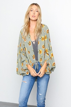 Grade and Gather Floral Printed Woven-Jacket - Product List Image