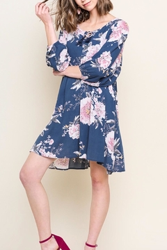 Shoptiques Product: Floral Puff-Sleeve Dress