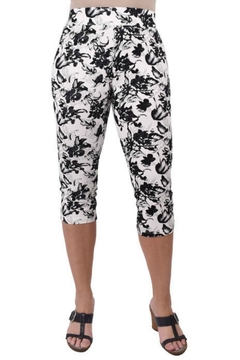 True Blue  Floral Pull-On Capri - Product List Image