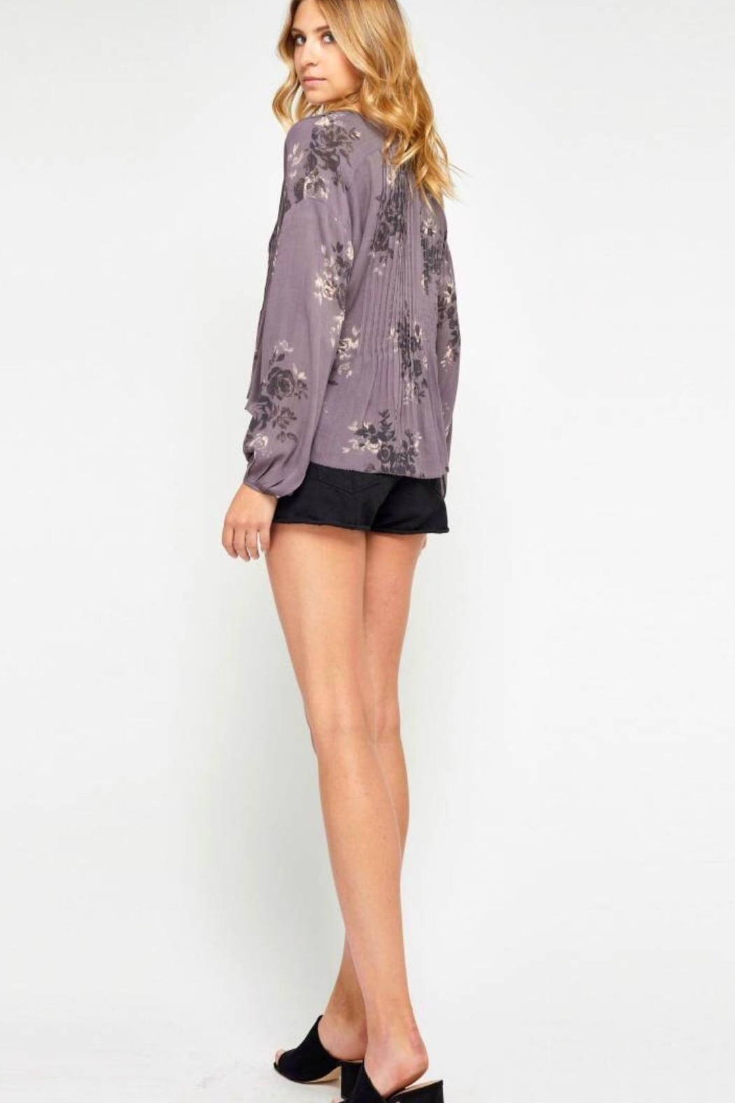 Gentle Fawn Floral Purple Blouse - Side Cropped Image