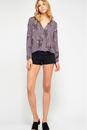 Gentle Fawn Floral Purple Blouse - Product Mini Image