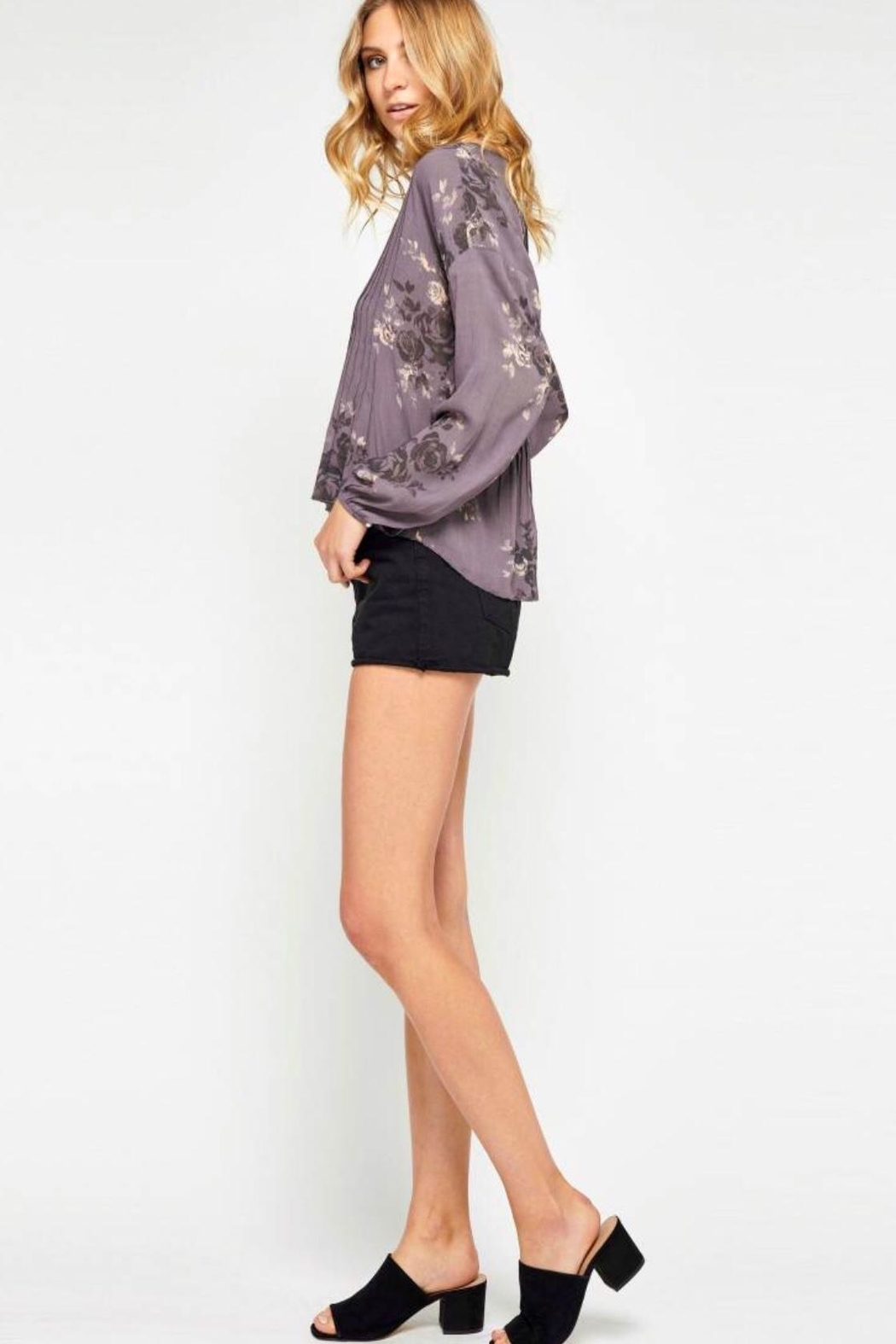 Gentle Fawn Floral Purple Blouse - Front Full Image