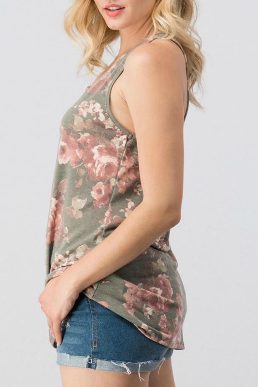Trend:notes Floral Racer Tank - Front Full Image