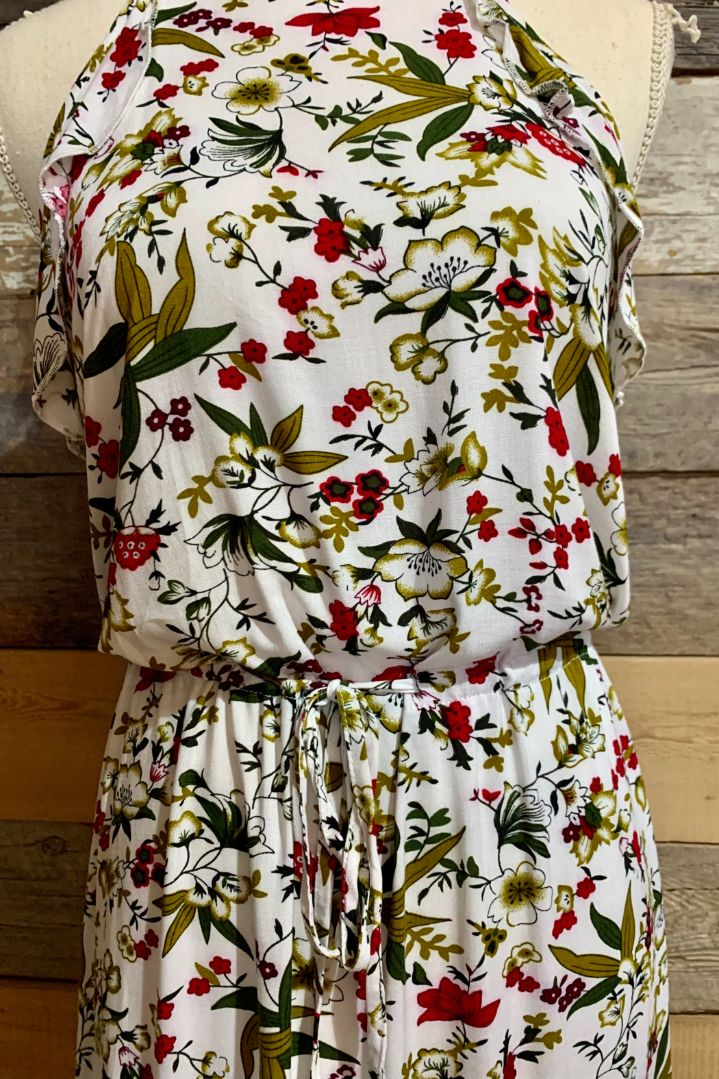 Mountain Valley Floral Racerback Dress - Front Full Image