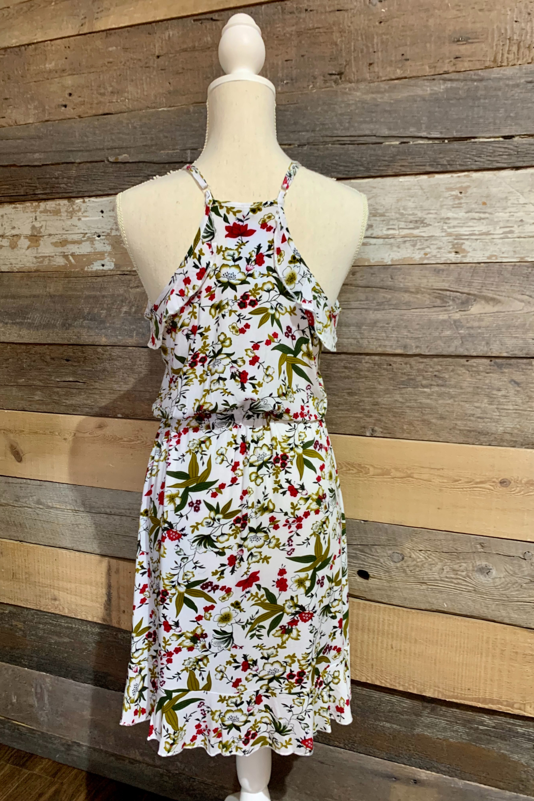 Mountain Valley Floral Racerback Dress - Back Cropped Image