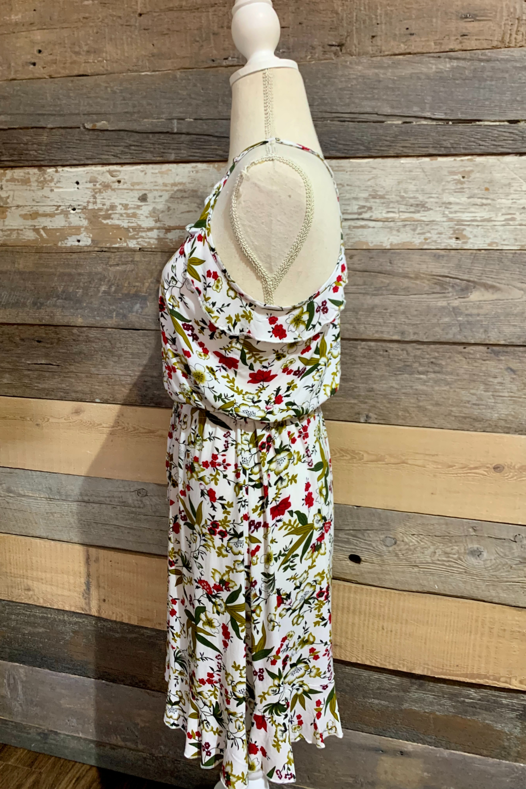 Mountain Valley Floral Racerback Dress - Side Cropped Image