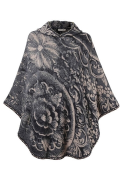 Ivko Floral Reliefs Poncho - Product List Image
