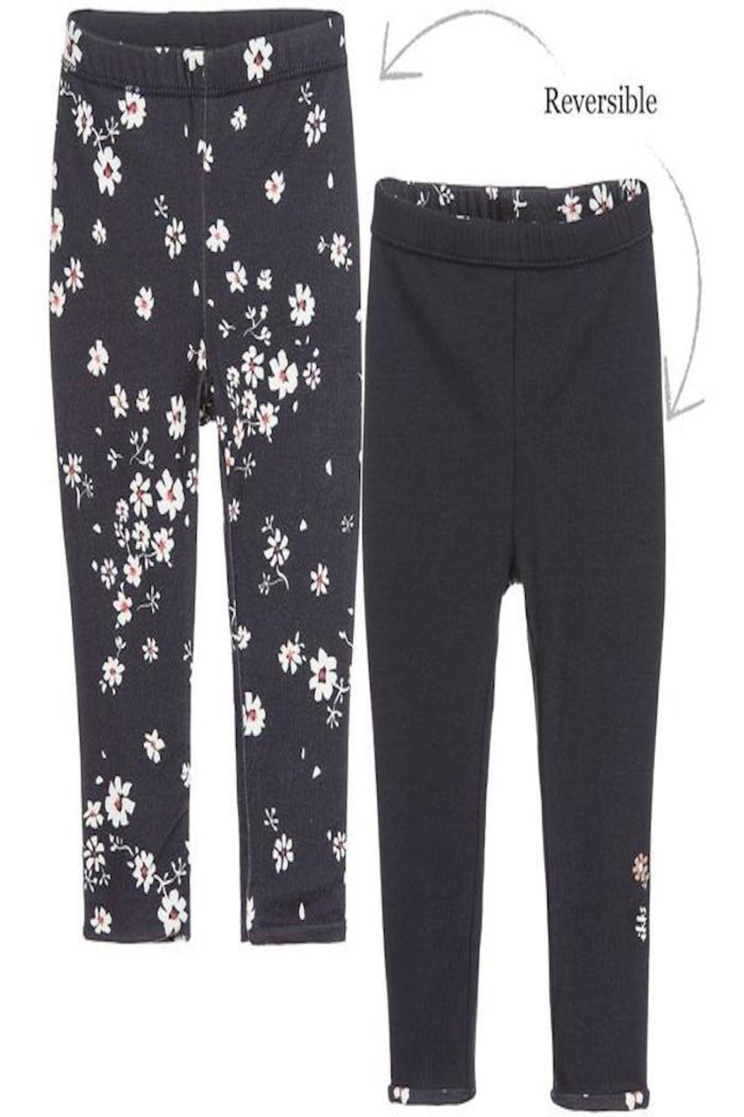 IKKS Floral Reversible Leggings - Front Cropped Image